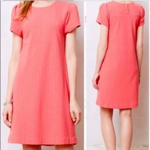 Maeve by Anthropologie | Textured Coral Dress